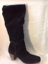 CRISPIUS Black Knee High Suede Boots Size 42.5