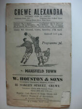 Away Teams L-N Mansfield Town Division 3 Football Programmes