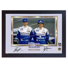 AYRTON Senna DAMON HILL FORMULA 1 Firmato Autografo foto stampa incorniciata