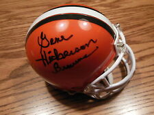 GENE HICKERSON SIGNED CLEVELAND BROWNS MINI HELMET JSA HOF 2007 RARE!!!