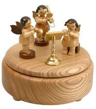Musikdose natur 3 Engel natur 12cm Spieluhr NEU Weihnachten Seiffen Erzgebirge