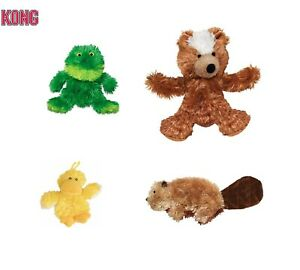 Kong Plush Refillables Puppy & Dog - Soft Toys - Squeak Chew Play Platy Duck