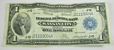 1914 National Currency Federal Reserve Kansas City One Dollar $1 Circulated