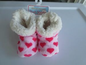 NEW Girl *0-6* or *6-12* months SKIDDERS Booties Slippers Gripper Pink Hearts