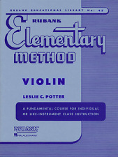 RUBANK ELEMENTARY METHOD FOR VIOLIN-MUSIC BOOK INSTRUCTION BAND BRAND NEW SALE!!
