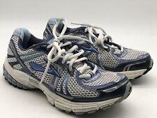 Brooks GTS Adrenaline 12 Women's Running Shoes Mesh Blue/ Silver Sz 8 Medium