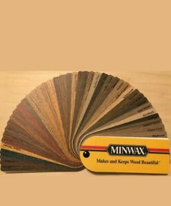 MINWAX WOOD STAIN SHERWIN WILLIAMS PAINT COLOR FAN DECK SWATCH DESIGN CRAFT TRIM