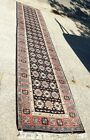 """ANTIQUE TRIBAL HAND KNOTTED CAUCASIAN ORIENTAL RUNNER RUG 14'x32"""" Numbered"""