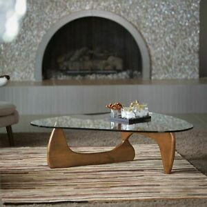 Noguchi Coffee Table Replica Highest Quality Reproduction Glass Top Wood Walnut