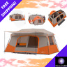 All Season Outdoor Large 11 Person Cabin Tent 3 Rooms Instant Camping Hiking NEW