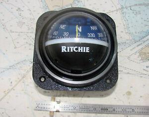 Ritchie 537-B BULKHEAD COMPASS-12 Photos-Nice-L@@K-LQQK !!