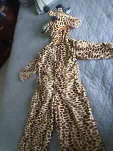 Authentic Kids Brand Unisex GIRAFFE Costume SZ 5-6 Faux Fur Giraffe Animal Print