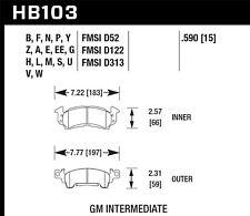 Disc Brake Pad Set-Base Front,Rear Hawk Perf HB103V.590