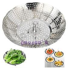 Stainless Folding Steamer Steam Vegetable Basket Mesh Expandable Cooker Tools 6L