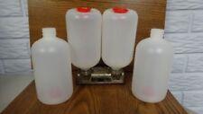 Four (4) MEC Reloading Bottles for Shot and/or Powder