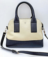 KATE SPADE - NWOT - South Port Ave Small Jenny Leather Black & Buttermilk Bag