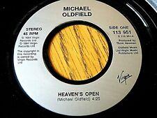 """MICHAEL OLDFIELD - HEAVEN'S OPEN  7"""" VINYL PS"""