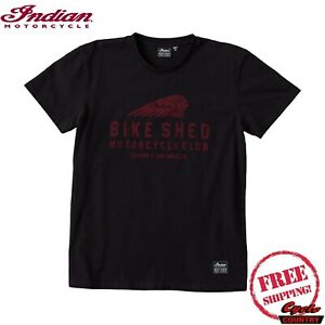 BSMC X INDIAN MOTORCYCLE BLACK UNISEX SHORT SLEEVE TEE