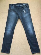 "Diesel Men's AKEE Ultrasoft Stretch Slim-Tapered Grey Jeans, W31"", 32"", RRP£180."