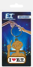E.T THE EXTRA TERRESTRIAL I LOVE E.T RETRO RUBBER KEYRING NEW OFFICIAL MERCH