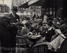 1925/72 Vintage TIHANYI CAFE du DOME Dining Hat Paris Photo Art By ANDRE KERTESZ