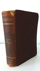 BACON'S ESSAYS by F.Storr and C.H.Gibson. 1886 London