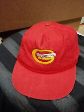 Vintage 1980's T.I. Geo Con Inc. Baseball Cap Hat Snapback Cord made in Usa