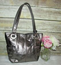 Fossil Hathaway Metallic Bronze Leather Shoulder Bag Purse Hobo Tote