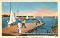 Postcard Greetings Fron Sylvan Beach, NY