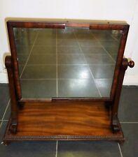 Georgian Solid Mahogany Dressing Table / Toilet Mirror