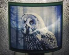 Owl Blue LED Plug In Night Light - Wildlife Decor -