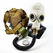 Soviet russian Gas mask GP-5 with hose. grey rubber new full set.