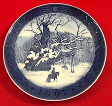 Vintage Royal Copenhagen Christmas Collector Plate,1967, The Royal Oak