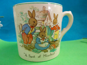 BCM NELSON WARE BUNNIES CHILD'S CUP - MADE IN ENGLAND VGC # 70
