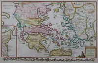 Griechenland der Antike - Conder / Baldwyn 1794 -A correct map of Antient Greece