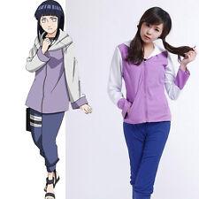 Narutos Shippuuden Hinata Hyuga 2nd Generation Cosplay Costume Girl's Sportswear