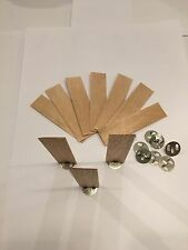 10 x 20mm x 1mm x 75mm wooden wood wick,votive candle,soy paraffin,candle