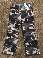 The Childrens Place Girls Corduroy Camo Pants Size 4 Camouflage Gray New