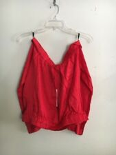 NWT Bardot Red Crop Up Off Shoulder Top Blouse Women Size 4/XS Stylish Modern