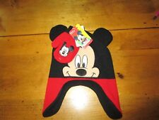 Nwt Boys Disney Mickey Mouse Hat And Mittens / Gloves