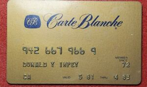 Member since 1981 Carte Blanche Gold Card exp 1983  ♡Free Shipping♡cc161♡