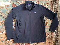 Mens Patagonia Black Adze Full Zip Soft Shell Lined Jacket Sz: XL EUC