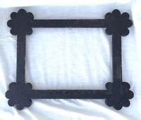 "Antique Hand Made Folk Art Wood Picture Frame - Inside 14"" x 10"""