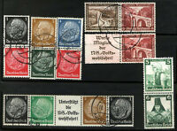 GERMANY 7 TETE-BECHE differents, Used