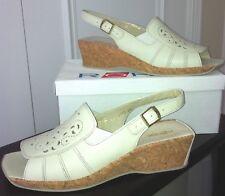 ROHDE Germany Women's Ivory Leather Cork Wedge Sandals-43EU-12US - NIB
