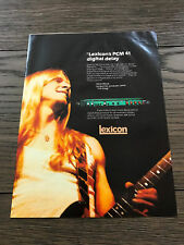 1983 VINTAGE 8X11 PRINT AD FOR Lexicon PCM41 digital delay Steve Morse THE DREGS
