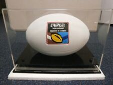 NRL/RUGBY LEAGUE FOOTBALL DISPLAY CASE WITH BONUS BALL