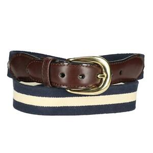 New Rogers-Whitley Men's Cotton Elastic Two Tone Stretch Belt