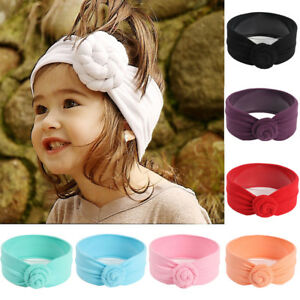Infant Kids Girls Baby Top Knot Headband Soft Turban Hair Band Hair Accessories
