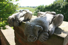 (NEW)Cliff Hanger Gargoyle-Wall Hanging Garden Stone Ornament,Concrete Gargoyles